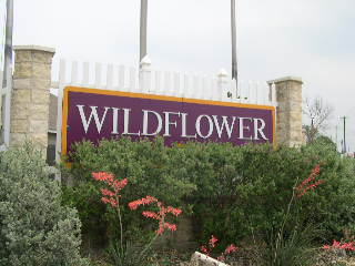 Wildflower subdivision entrance monument.